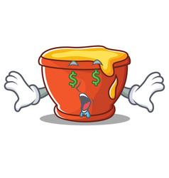 Money eye honey character cartoon style vector