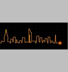 Montevideo light streak skyline vector