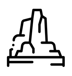 mountain skyscrapers icon outline vector image