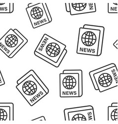 newspaper icon seamless pattern background news vector image