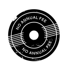 No annual fee rubber stamp vector