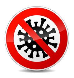 No virus sign icon vector