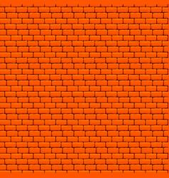 orange brick wall seamless texture vector image