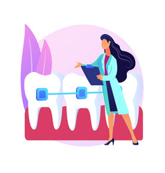Orthodontic services abstract concept vector