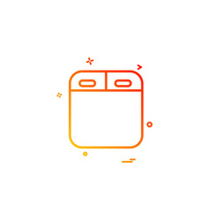 oven icon design vector image
