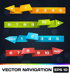 Paper Navigation With Origami vector image