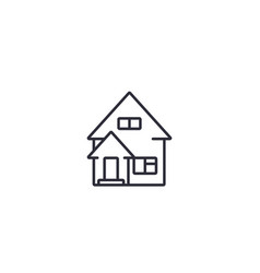 residential house line icon vector image