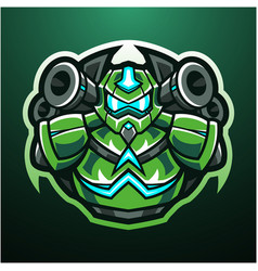 Robot esport mascot logo design vector