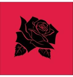 Rose sketch vector image