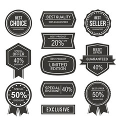 sale label silhouette vector image