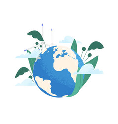 save planet ecology concept earth care and vector image