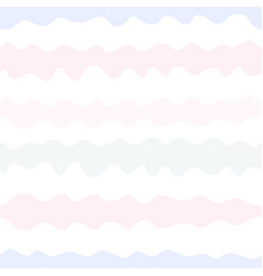 Seamless pattern wavy lines pastel colors vector