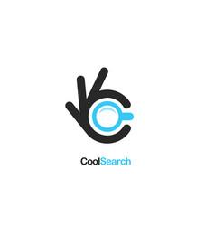Search icon ok symbol okay logo high vector