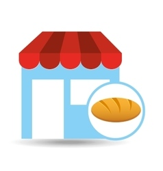 selling fresh bread vector image