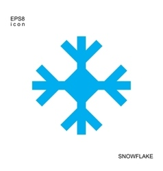 Snowflake blue icon isolated on white background vector