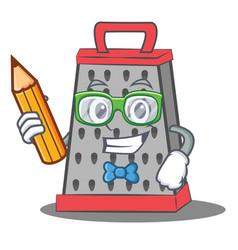 Student kitchen grater character cartoon vector