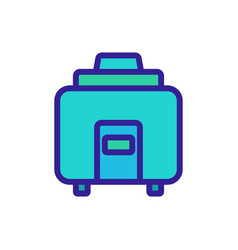 Sustainable kitchen crock-pot icon outline vector