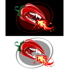 two very angry peppers vector image