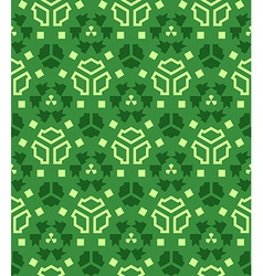 Various green color abstract geometric seamless vector