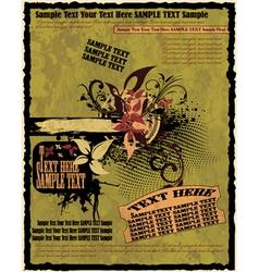 Vintage grunge poster vector