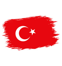 vintage turkish flag vector image