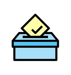 voting box icon isolated on white background from vector image