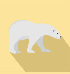 walk of polar bear icon flat style vector image