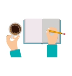 Writing on notebook vector