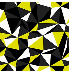 yellow black seamless triangle pattern vector image