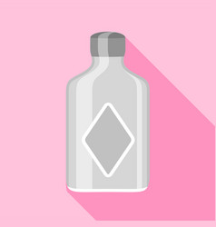 clear glass bottle with squared sides icon vector image vector image
