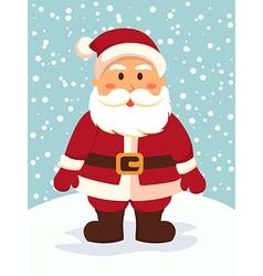 Santa Standing in Snowy Day vector image vector image