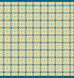 seamless geometric with squares between the lines vector image