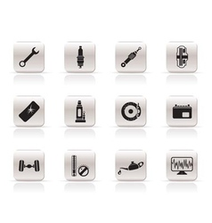 simple car parts and services icons vector image vector image