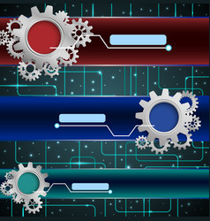 abstract technology concept with gears background vector image