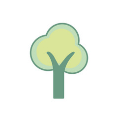 beauty ecological and natural tree icon vector image vector image