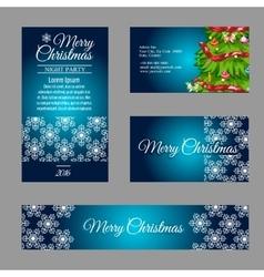 Four designer Christmas business cards vector image
