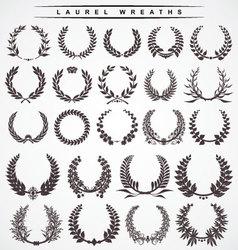 laurel wreaths vector image vector image
