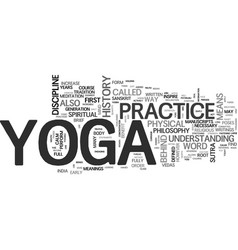 Yoga history text background word cloud concept vector
