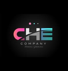 che c h e three letter logo icon design vector image vector image