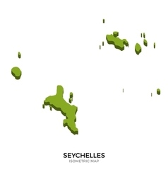 Isometric map of Seychelles detailed vector image vector image