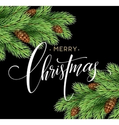 Merry Christmas and Happy New Year 2017 greeting vector image vector image