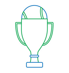 Trophy with tennis ball icon ima vector