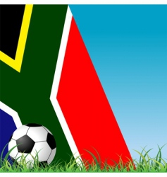 ball grass and flag vector image vector image