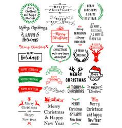 christmas text overlays set christmas text vector image vector image