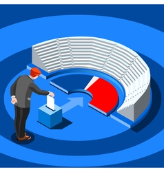 Election Infographic Parliament Vote Isometric vector image vector image