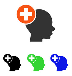 head treatment flat icon vector image