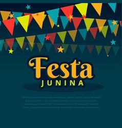 Latin american festa junina festival vector