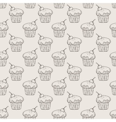 Muffins Seamless Pattern vector image vector image