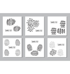 Set of 6 creative covers or universal cards vector image vector image
