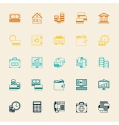 Set of business and banking icons vector image vector image